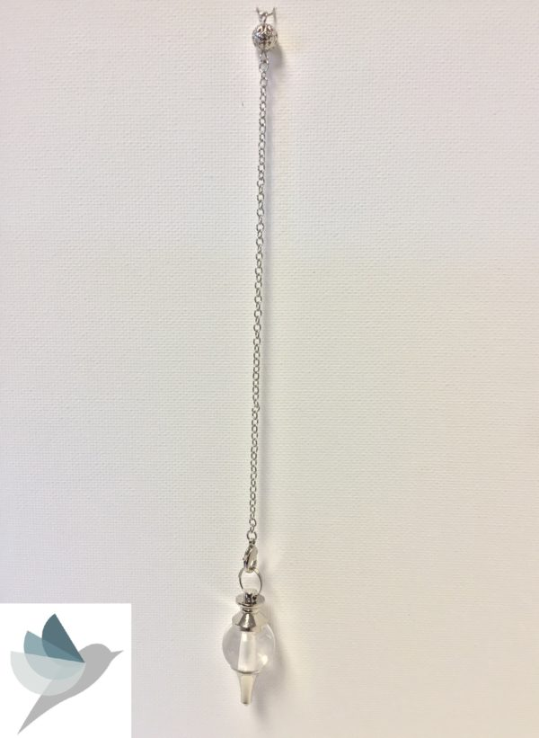 White Quartz Pendulum by Medium Jay Lane