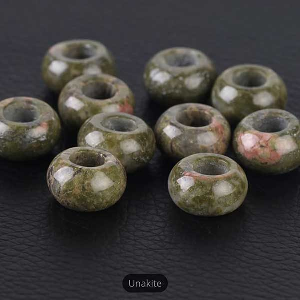 Unakite Gemstone to add to your Custom Bracelet by Medium Jay Lane