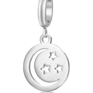 Moon and Stars Charm to add to your Custom Bracelet by Medium Jay Lane