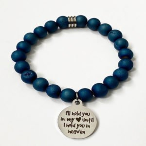 Memorial Blue Druzy bracelet by Medium Jay Lane
