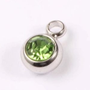 expressions of love August birthstone Peridot charm by Medium Jay Lane