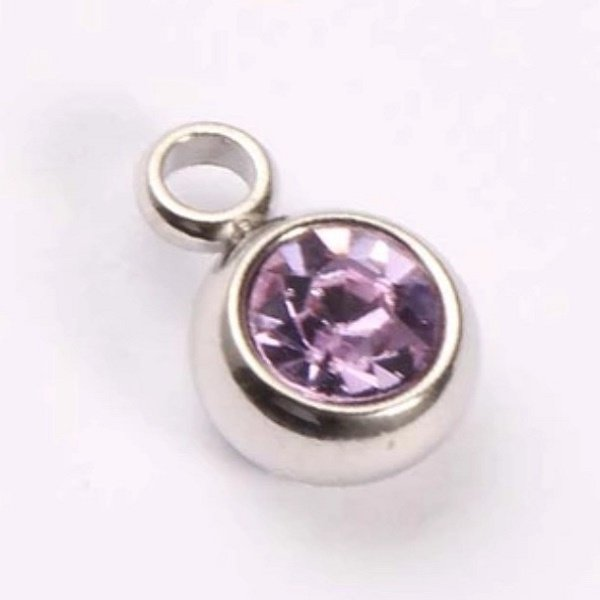 expressions of love February birthstone Amethyst charm by Medium Jay Lane