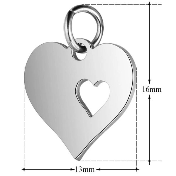 expressions of love heart charm by Medium Jay Lane