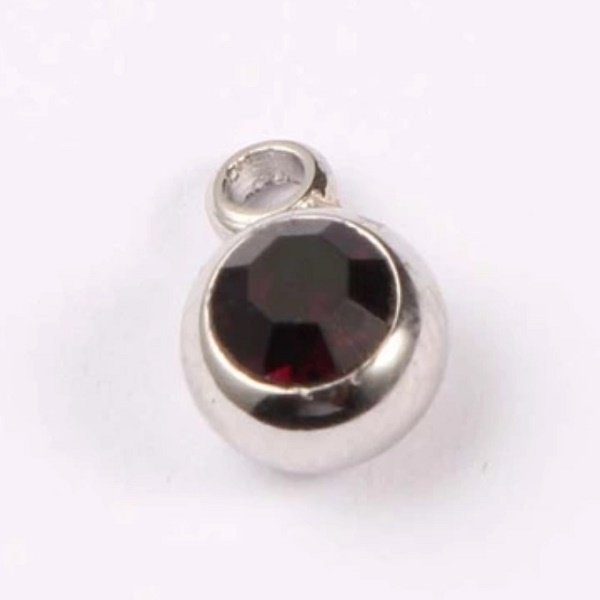 expressions of love January birthstone Garnet charm by Medium Jay Lane