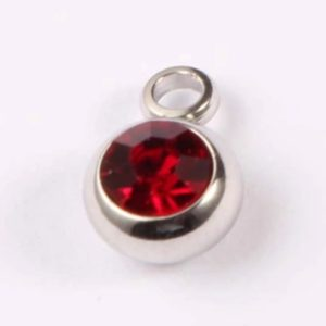 expressions of love July birthstone Ruby charm by Medium Jay Lane