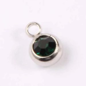 expressions of love May birthstone Emerald charm by Medium Jay Lane