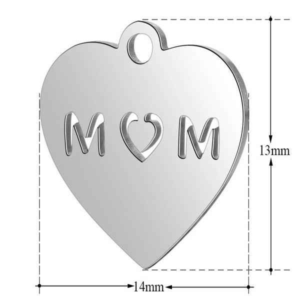 expressions of love mom charm by Medium Jay Lane