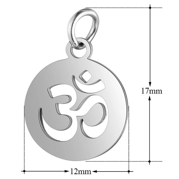 expressions of love ohm symbol charm by Medium Jay Lane