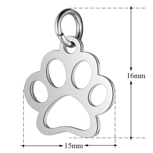 expressions of love paw print charm by Medium Jay Lane