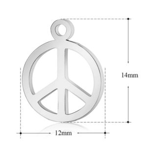 expressions of love peace sign charm by Medium Jay Lane