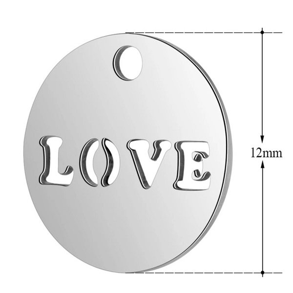 expressions of love round love charm by Medium Jay Lane