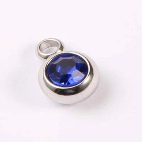 expressions of love September birthstone Sapphire charm by Medium Jay Lane